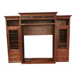 Traditional Ethan Allen Wood Entertainment Center For Sale