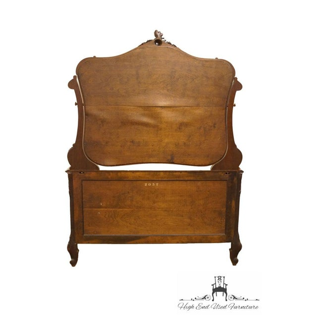 1920s Antique Louis XVI Bookmatched Mahogany Dresser with Mirror For Sale - Image 9 of 12