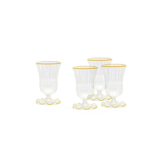 Contemporary Moda Domus x Chairish Exclusive Water Glasses - Set of 4 For Sale - Image 3 of 3