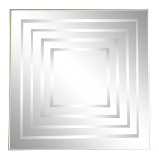 1970s Vintage Op Art Mirror For Sale