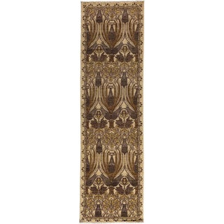 "Arts & Crafts Hand Knotted Wool Runner Rug - 2'5"" X 8'5"""