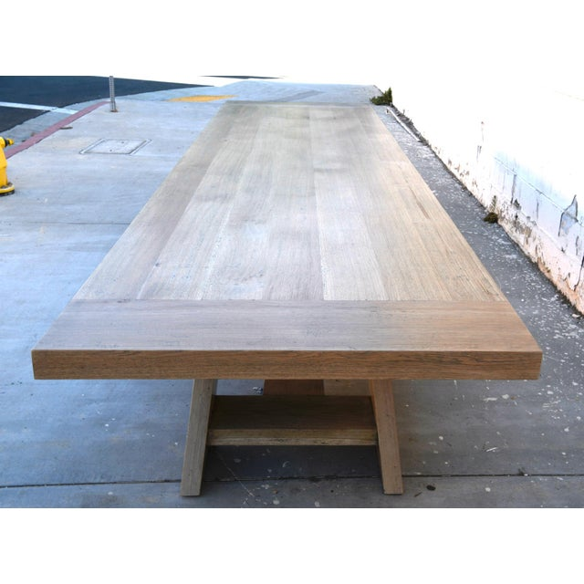 Not Yet Made - Made To Order Rustic Banquet Table Made From Rift Sawn White Oak For Sale - Image 5 of 13