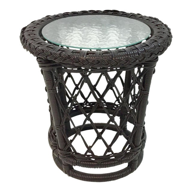 Lane Venture Outdoor Accent Table For Sale