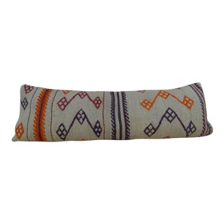 Boho Woven Kilim Pillow Cover For Sale