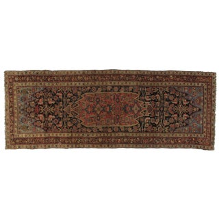 Early 20th Century Antique Bijar Rug - 3′10″ × 10′7″ For Sale
