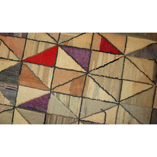 1880s Hand Made Antique Square American Hooked Rug - 2′ × 2′1″ For Sale - Image 5 of 6