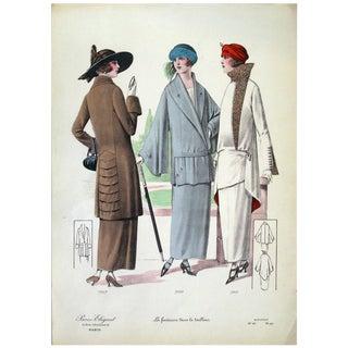 1920s Vintage La Fantaisie Dans Le Tailleur Print For Sale