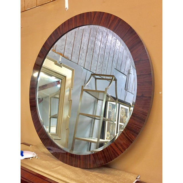 Traditional Century Round Wall Mirror For Sale - Image 3 of 3