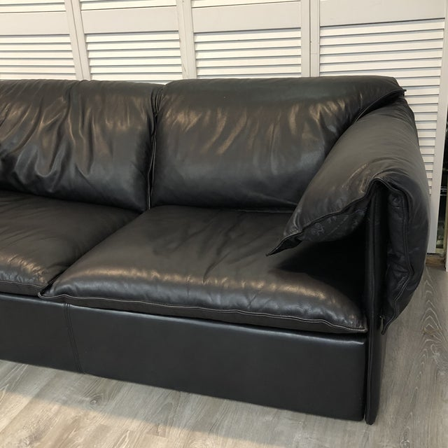 1970s Vintage Niels Eilersen Leather Convertible Couch Sofa For Sale - Image 5 of 13