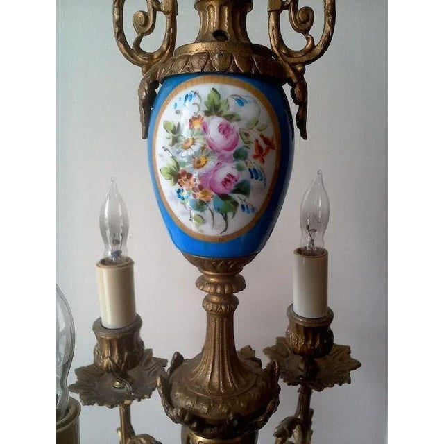 Early 20th Century Pair of Beautiful Floral Pendant Lights or Sconces For Sale - Image 5 of 10