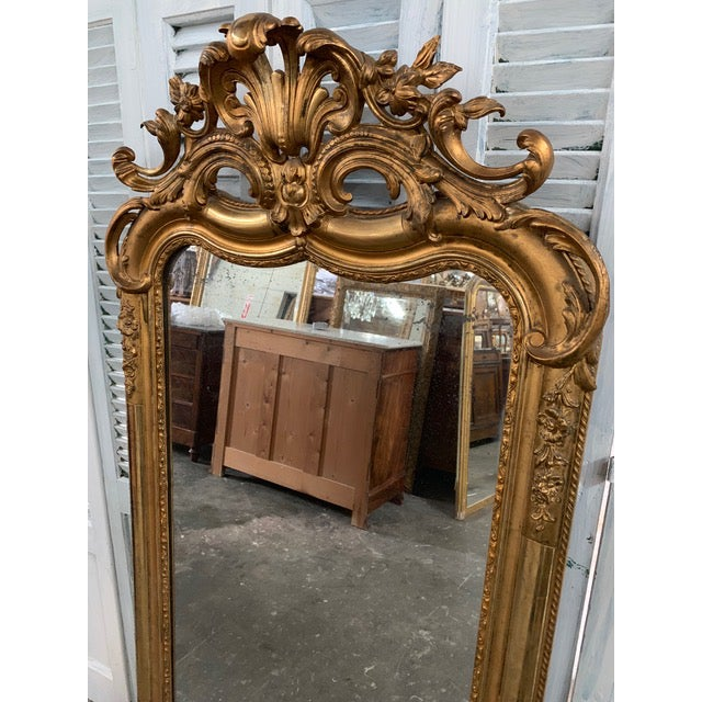18th Century Ornate French Louis Philippe Style Mirror For Sale In Atlanta - Image 6 of 13