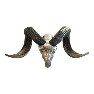 Silver Leaf Ram Skull