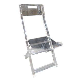 1980s Vintage Lucite Folding Chair For Sale
