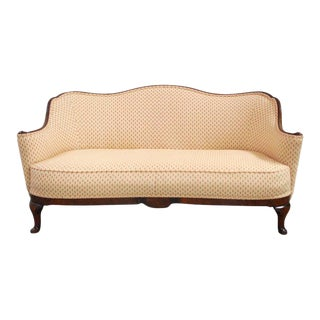 19th Century Victorian Carved Walnut Settee