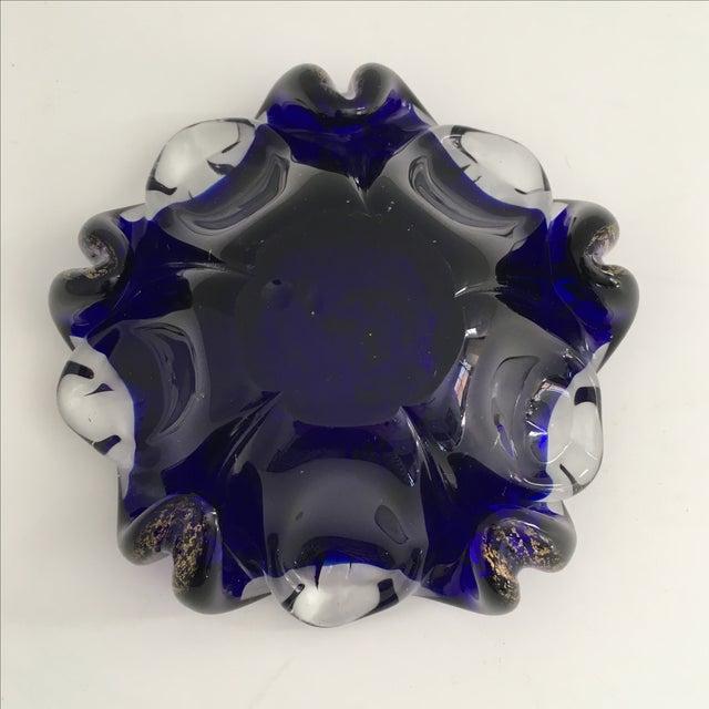 Murano Cobalt Blue Art Glass Bowl - Image 5 of 6