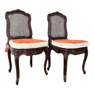 Napoleon III Caned Chairs With Cushions - Set of 2 For Sale