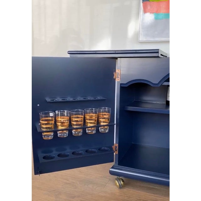 1970s 1970s Vintage Lacquered Bar Cart For Sale - Image 5 of 13