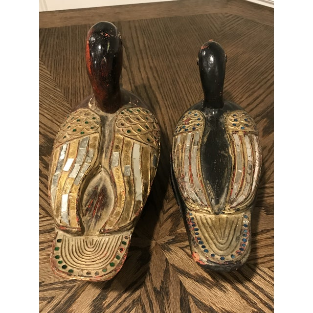 Asian Antique Wooden Duck Boxes - a Pair For Sale - Image 4 of 10