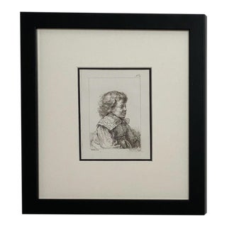 Late 18th Century Rembrandt Etching #32, by Francesco Novelli For Sale