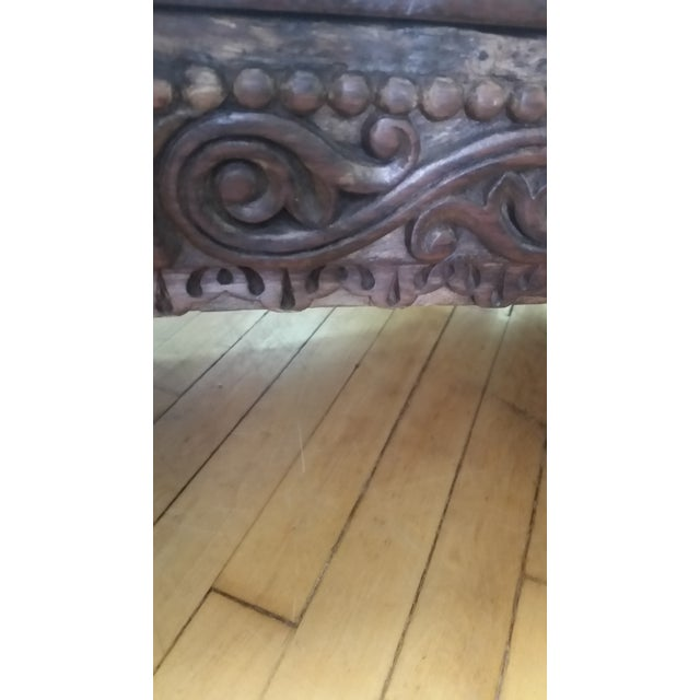 Early 20th Century Asian Hand Carved Rosewood Tea Table For Sale - Image 5 of 8