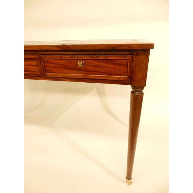 Late 19th Century 19th C. Louis XVI Style Desk/Leather Top For Sale - Image 5 of 6