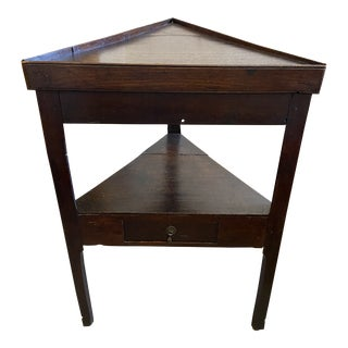 Welsh Oak Triangle Table For Sale