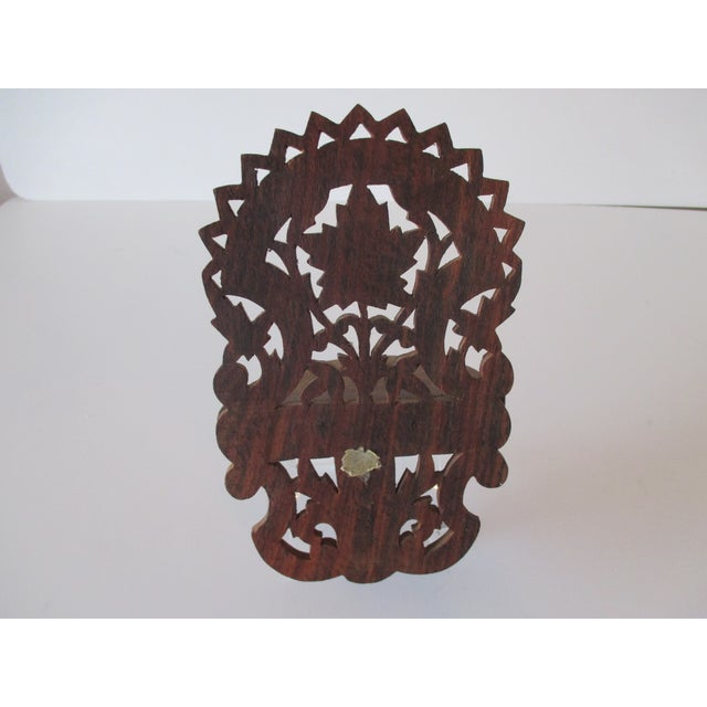 Decorative Petite Indian Carved Wood Shelf For Sale - Image 4 of 6