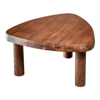 Pierre Chapo Small Triangular Coffee Table in Oak, France, 1960s For Sale
