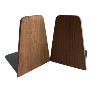 20th Century Danish Modern Teak Bookends - a Pair For Sale