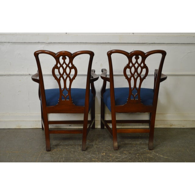 Chippendale Style Set of 8 Custom Mahogany Dining Chairs - Image 2 of 11