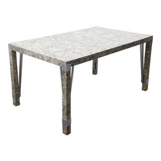 Mid-Century Modern Formica Dining Table With Leaf For Sale