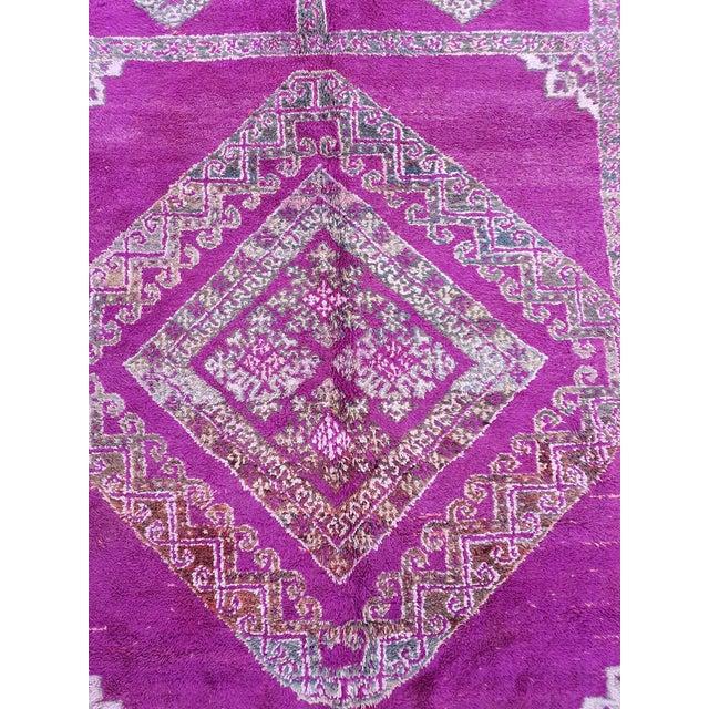 Beni Mguild Purple Rug For Sale - Image 4 of 8