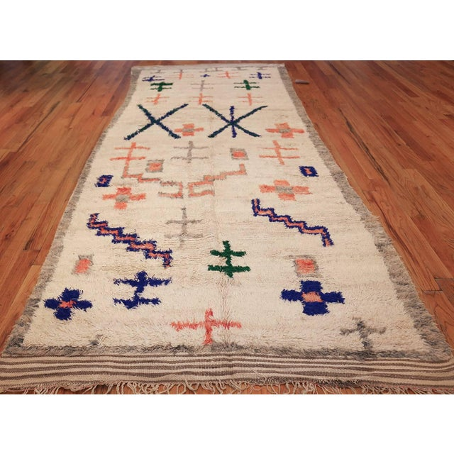 Vintage Moroccan Rug For Sale - Image 10 of 11