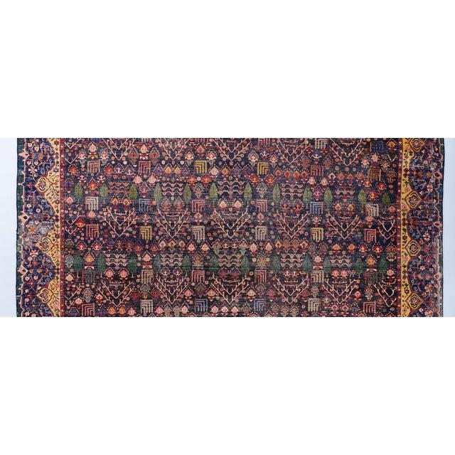 Late 19th Century Blue Ground Oversized Bakhtiari Carpet For Sale - Image 5 of 6