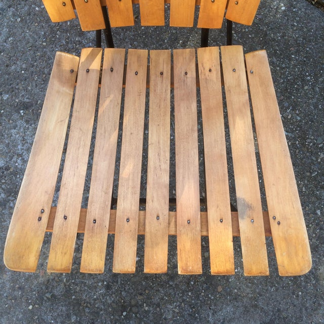 1950s Vintage Umanoff Slat Dining Chairs- Set of 6 For Sale - Image 11 of 13