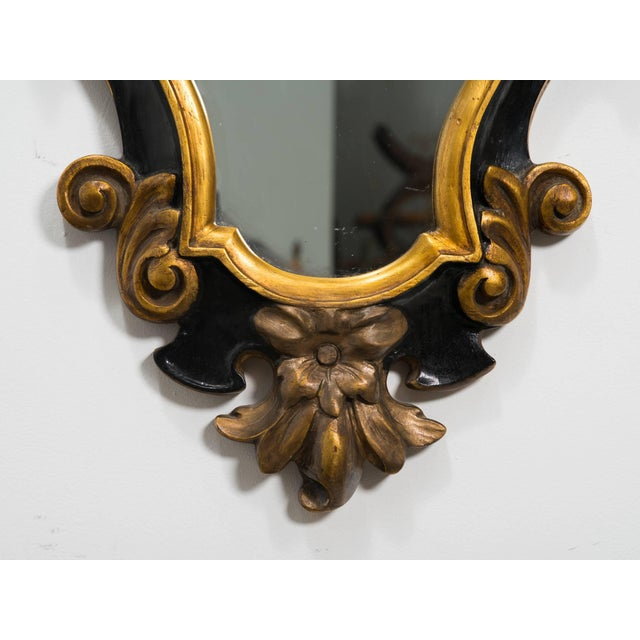 Rococo 1930s Carved Wood Rococo Style Mirror For Sale - Image 3 of 7