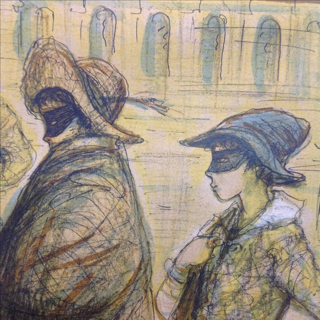 1977 Masquerade a Venice Litho Print by Jacques Lalande - Image 6 of 7