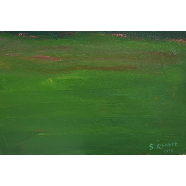 "2010s Abstract Painting, ""Sunset over Fields"" by Stephen Remick For Sale In Providence - Image 6 of 10"