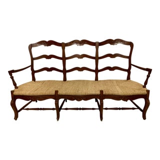 Marie Albert French Country New York Rush Seat Bench For Sale