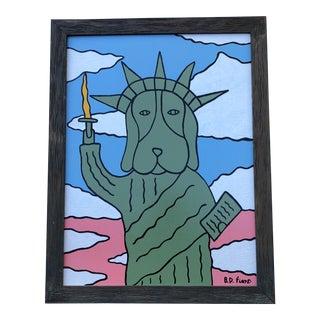 "Original ""Liberty Dog"" Painting by B.D.Floyd"