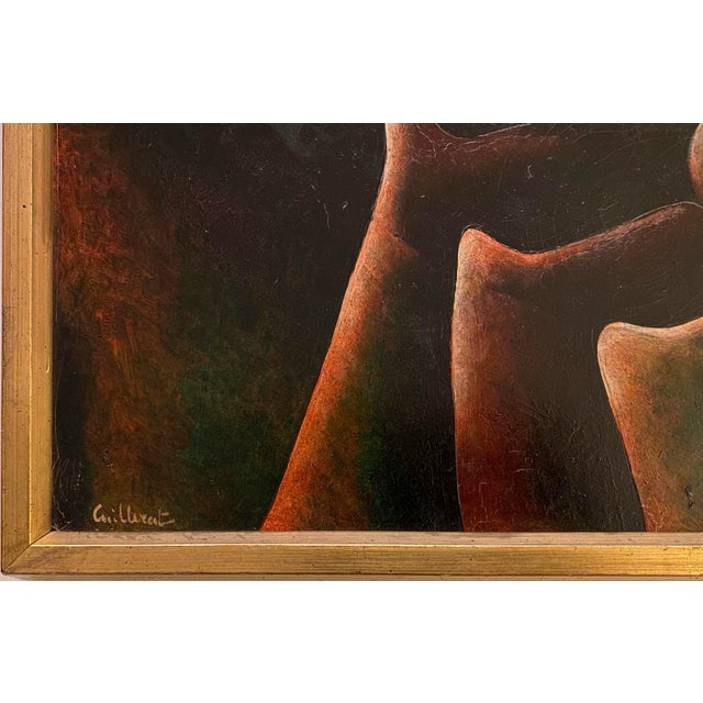 French French Surrealist Painting, 1960s, Oil on Canvas by Jean Cuillerat, Paris For Sale - Image 3 of 8