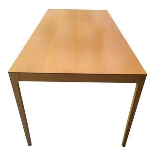 Modern Oak Rectangular Dining Table For Sale