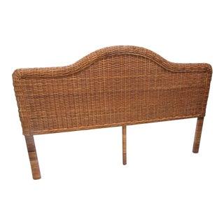 Woven Rattan King Size Headboard For Sale