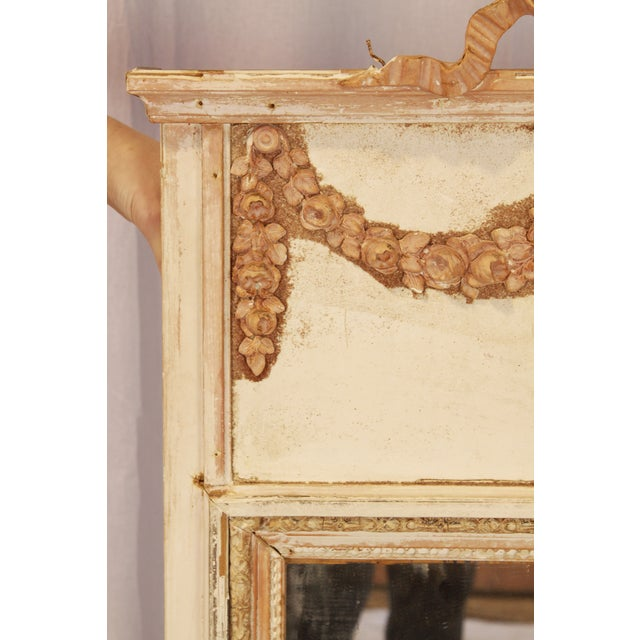 French 19th Century French Laurel Trumeau Mirror For Sale - Image 3 of 7