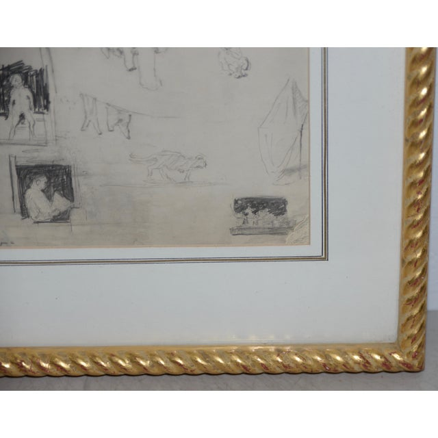 "Eugene Higgins (1874-1958) ""Family Life"" Sketches C.1920's For Sale - Image 4 of 11"