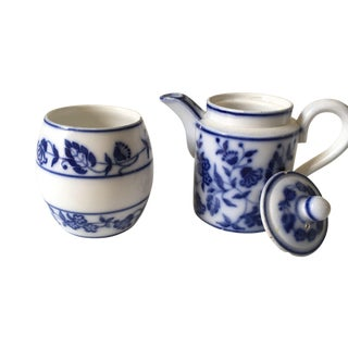 Flow Blue Sugar and Creamer - 2 Pc. Set