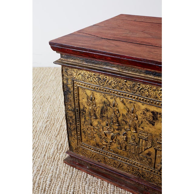 19th Century Burmese Gilded Chest or Trunk Table For Sale - Image 10 of 13