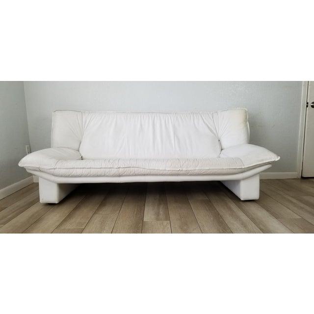 Nicoletti Salotti Postmodern Italian Leather Sofa , Circa 1980's . For Sale - Image 13 of 13