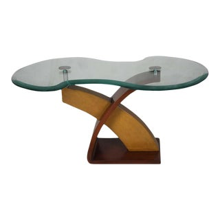 Mid-Century Modern Teak and Mahogany Side Table For Sale
