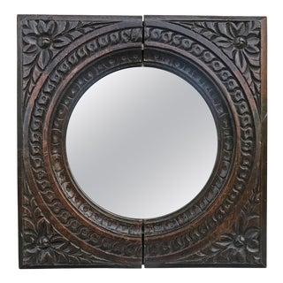 Petite 18th Century Oak Mirror For Sale